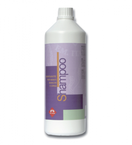 Shampoo for white grey-coated horses