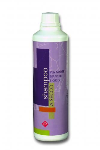 Shampoo a secco manti grigi